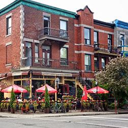 restaurant avec terrasse dans le Mile-End, Plateau