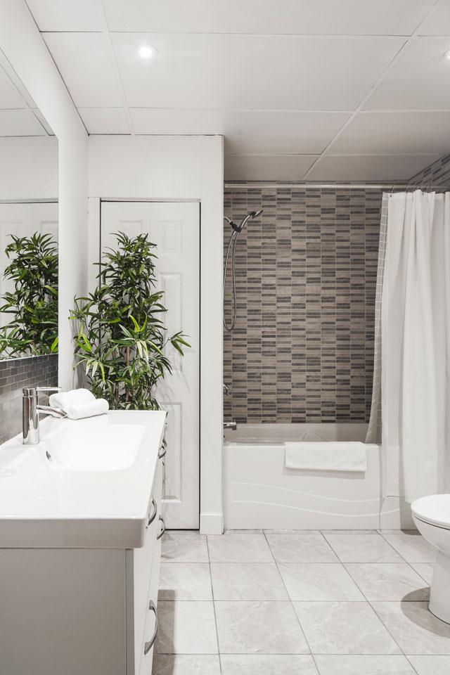 Entertainer: salle de bain complète