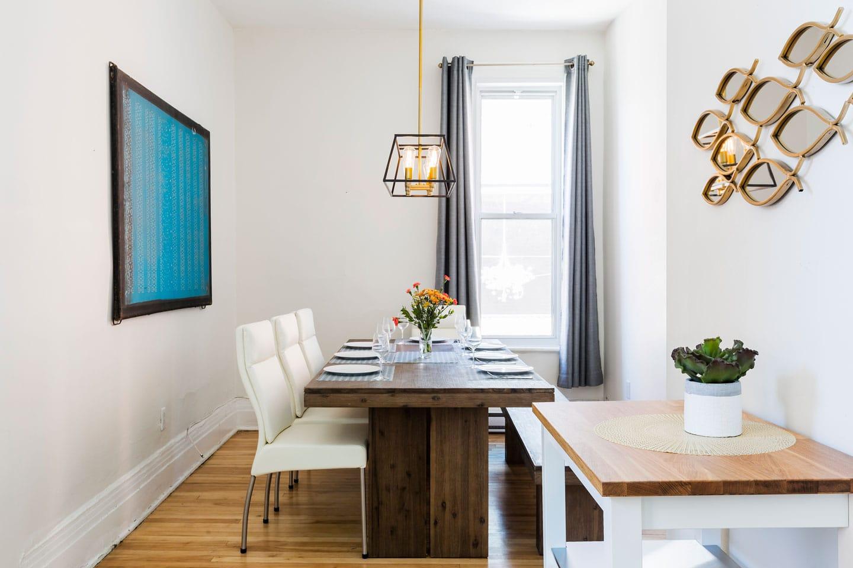 Chic Laurier #2: salle à manger avec table pour 6 personnes
