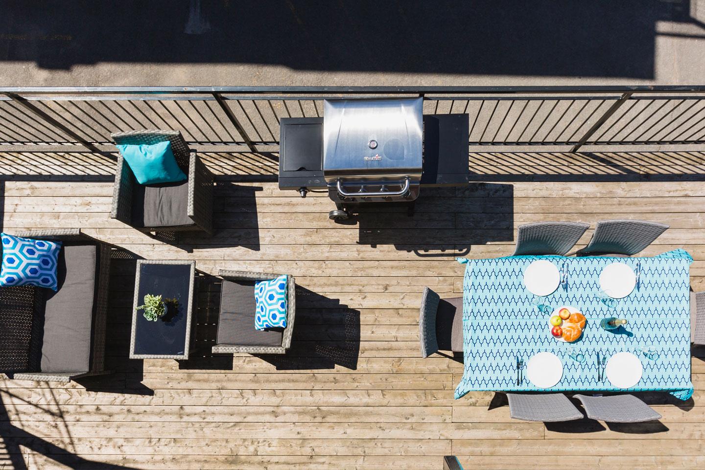 Chic Laurier #2: terrasse privée ensoleillée avec BBQ