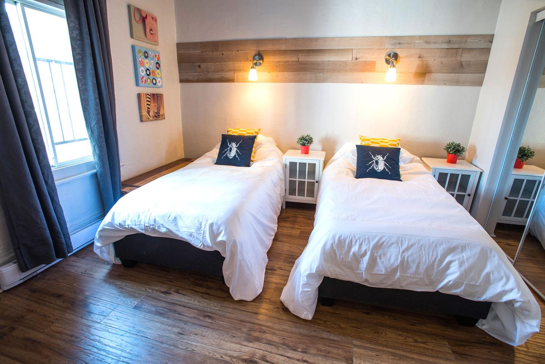 MTL Zoo : chambre 1, ici avec 2 lits simples