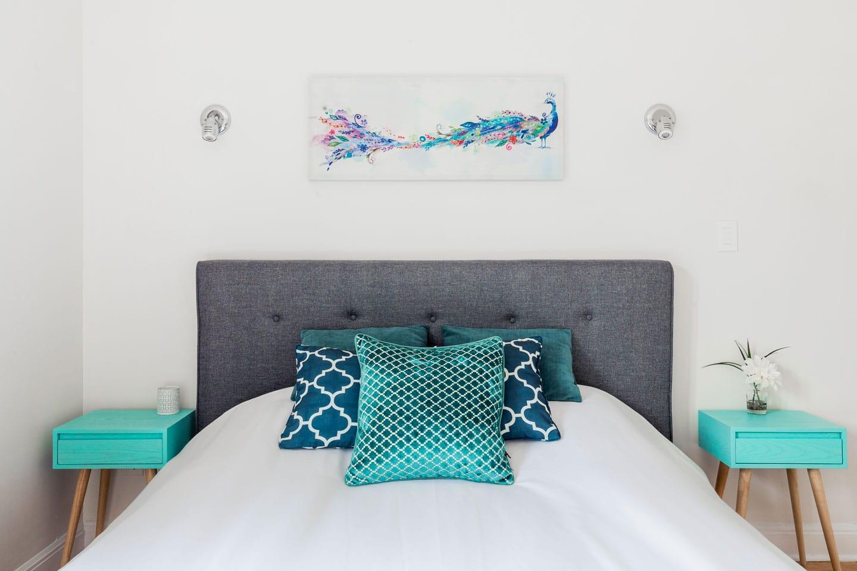 Scandinave: chambre 3, matelas confort en mousse-mémoire