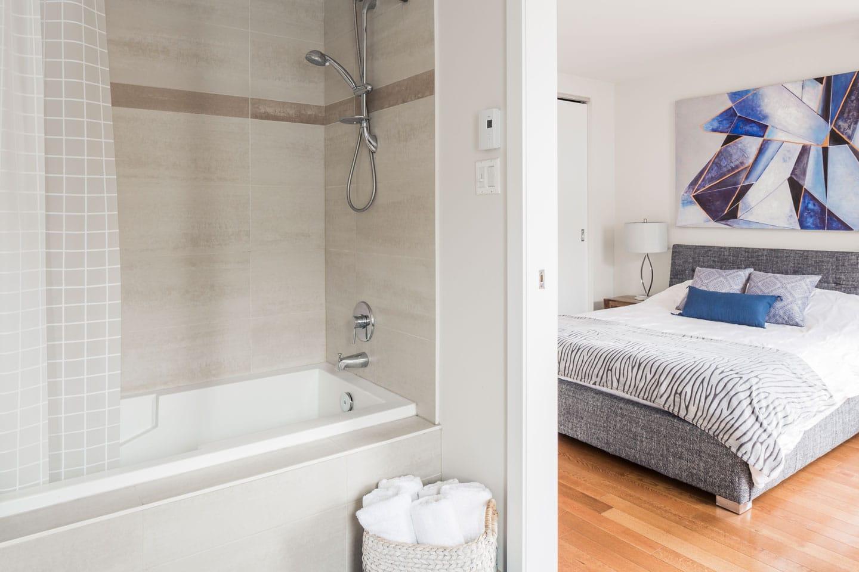 Suite 101: salle de bain avec douche