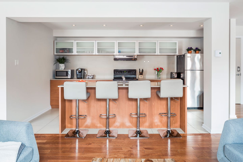 Suite 101: cuisine toute équipée avec comptoir-bar
