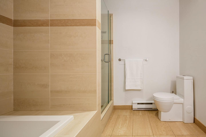 Suite 103: salle de bain spacieuse