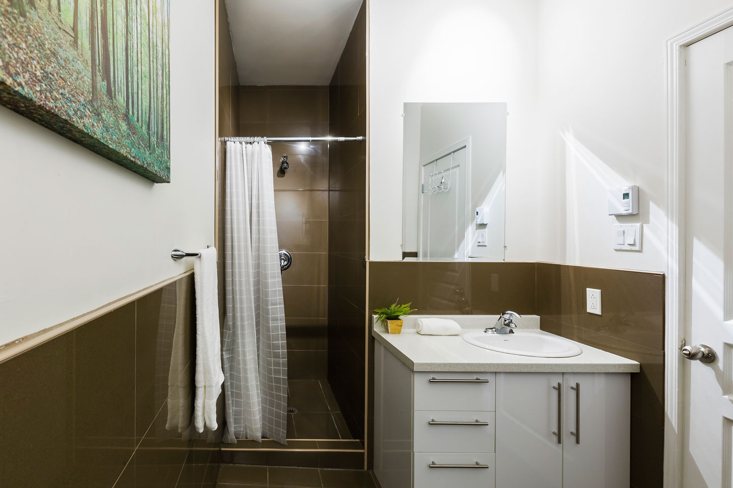 Chic Laurier #2: first bathroom with a walk-in shower