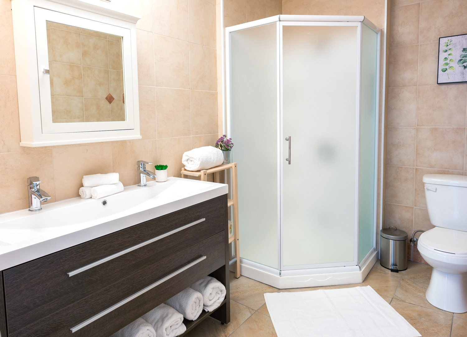 First full bathroom, towels and soap provided